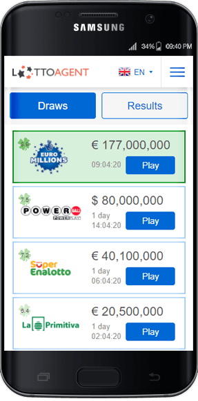 Android Application - Lotto Agent